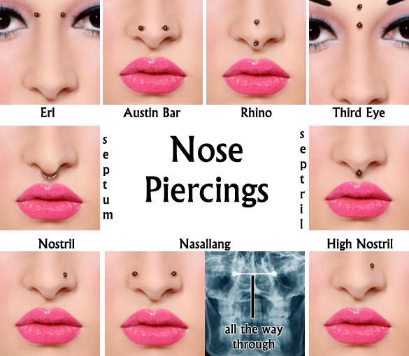 Types of Nose Piercings - Sacramento Nose Piercing